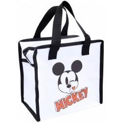 Eine kleine, weiße Mehrwegtasche Mickey