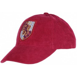 Bordowa, sztruksowa czapka Gryffindor Harry Potter