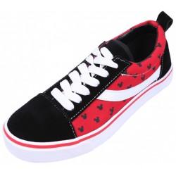 Czerwono-czarne tenisówki Myszka Mickey DISNEY