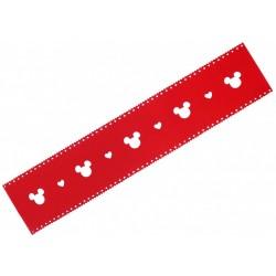 Czerwony, filcowy bieżnik 33x165 Mickey DISNEY