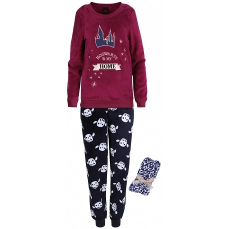 Bordowo-granatowa piżama + skarpetki Harry Potter