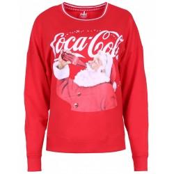 Czerwona świąteczna bluza Coca-Cola