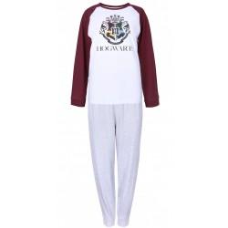 Szaro-biała piżama męska Hogwarts Harry Potter