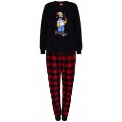 Czarno-czerwona, świąteczna piżama męska Simpsons