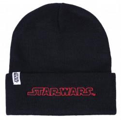 Czarna,ciepła podwijana czapka Star Wars DISNEY