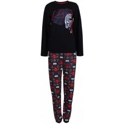 Czarno-czerwona piżama męska STAR WARS DISNEY