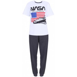 Biało-szara piżma męska NASA