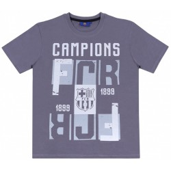 Ciemnoszary t-shirt męski FC BARCELONA