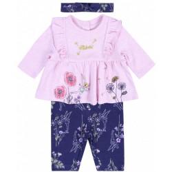 Różowa tunika + legginsy + opaska Dzwoneczek Disney