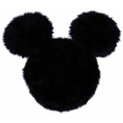 Czarny włochaty dywanik Myszka Mickey Disney