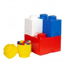Zestaw kolorowych pojemników LEGO