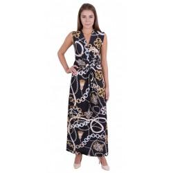 000660301 Długa sukienka z łańcuchami