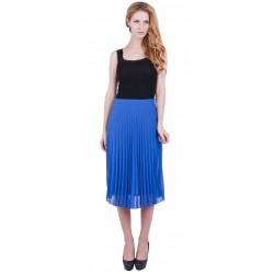 ASOS Kobaltowa plisowana spódnica midi