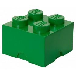 Zielony pojemnik na drobne zabawki KLOCEK LEGO
