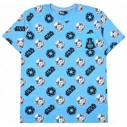Błękitny,męski t-shirt,koszulka Star Wars