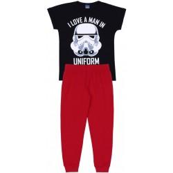 Czarno-czerwona piżama chłopięca STAR WARS Disney