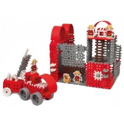 Klocki konstrukcyjne Mini Waffle- strażak MARIOINEX