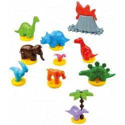 Kolorowy komplet plastikowych zabawek Dinozaury MARIOINEX