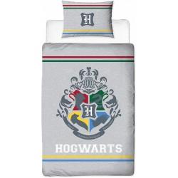 Szara pościel + poszewka z herbem HOGWARTU 135x200 Harry Potter