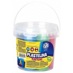 Kolorowa plastelina w wiaderku- 6 szt. ASTRA