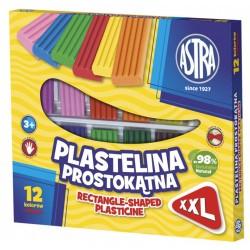 Plastelina prostokątna- 12 kolorów ASTRA