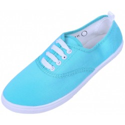 Basic turquoise trainers