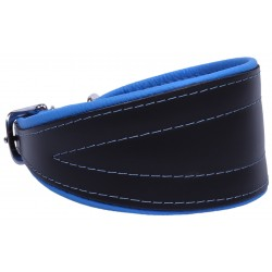 Black And Blue Dog Leather Collar Chart Neo- 30 cm