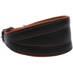 Black And Brown Leather Collar Chart Neo- 45 cm