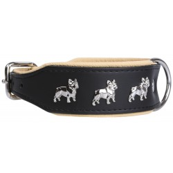 Czarna obroża Bulldog Francuski 45 cm