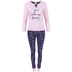Pink&Purple Floral Cosy Pyjamas With Long Sleeves