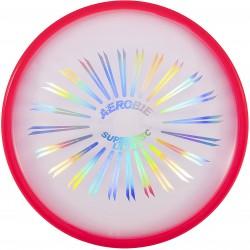 Przezroczyste frisbee/dysk z czerwoną, gumową obręczą AEROBIE SUPERDISC ULTRA