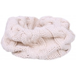Warm, light beige tube scarf