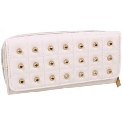 Cream purse with studs