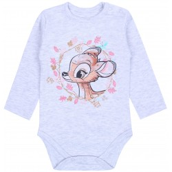 Infants Grey Cotton Body Long Sleeves BAMBI Disney