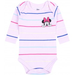 Infants Pink Body In Colourful Stripes Minnie Mouse DISNEY