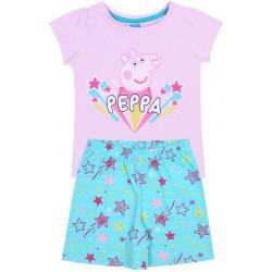 Girls Pink&Turquoise Pyjamas With Stars Peppa Pig