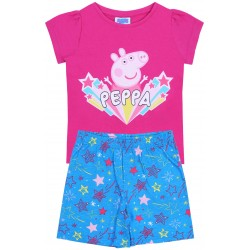 Girls Dark Pink Pyjamas With Stars Peppa Pig
