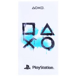 White&Baby Blue Towel Playstation 70x140