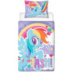 Kolorowa tęczowa pościel My Little Pony 120x150 ,62x42