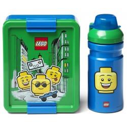 Zielono-niebieski zestaw lunch box i bidon Boy LEGO