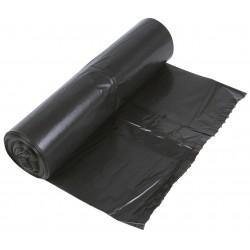 Czarne worki na śmieci LDPE 120l, 25szt