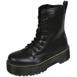 High Black Boots/Combat Boots With A Thick Sole Zippered VICES