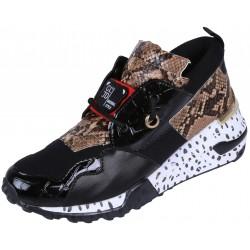 Black Snake Print Sneakers VICES