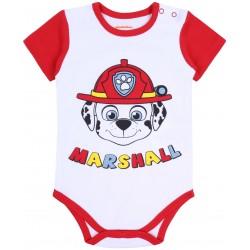 Biało-czerwone body niemowlęce MARSHALL Psi Patrol NICKELODEON
