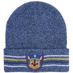 Granatowa,chłopięca,ciepła czapka z nadrukiem CHASE Psi Patrol