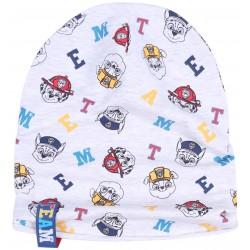 Szara melanżowa czapka z postaciami z bajki Psi Patrol Nickelodeon