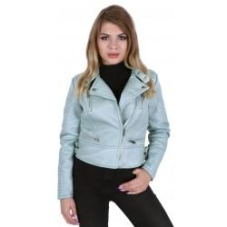 Willow-green biker jacket