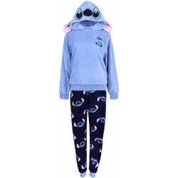 Ciepła, niebiesko-granatowa piżama damska Stich Disney PRIMARK