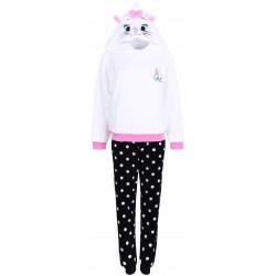 Ciepła, biało-czarna piżama damska Kotka Marie Disney PRIMARK