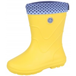 VIBES Yellow, insulated wellingtons for children Demar